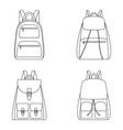 set outlines backpacks vector image vector image