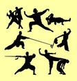 shaolin kungfu martial art silhouette
