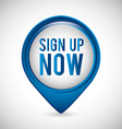 sign up vector image vector image