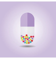 Single abstract vertical purple capsule icon vector image vector image