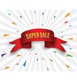 super sale banner ribbon vector image vector image