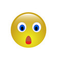 surprised face emoji icon vector image