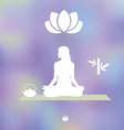 Tea Yoga Meditation set vector image vector image