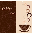 Template for a tea coffee chocolate menu vector image
