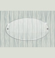 transparent acrylic plate on wooden background vector image