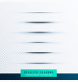 transparent paper line shadow effect set vector image vector image