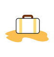 travel suitcase with sand vector image