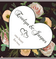 valentine greeting invite card with flower and vector image vector image