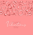 valentines day background decorated 3d coral vector image vector image