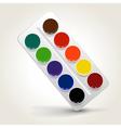 watercolor paints vector image
