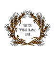 wheat rye frame wreath isolate object vector image vector image