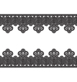 white background with black lace border vector image vector image