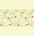 yellow pattern with tomatoe and leaf vector image