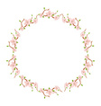 Flower round wreath vector image