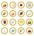 sewing cartoon icon circle vector image