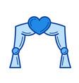 wedding arch line icon vector image