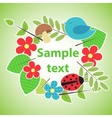 Green eco style banner for your design vector image