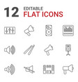 12 loud icons vector image vector image