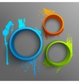 3d rings vector image