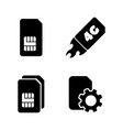 4g sim card simple related icons vector image vector image