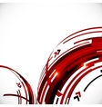 Abstract red and black circles background vector image vector image