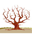 abstract tree silhouette vector image