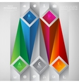 Abstract volume infographics vector image