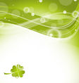 Abstract wavy background with clover for St vector image vector image