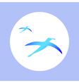 albatrosses in circle vector image vector image