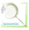 badminton tournament logo tennis racket