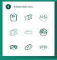bake icons vector image vector image
