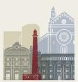 Bari skyline poster vector image vector image
