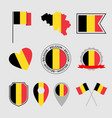 belgium flag icons set belgian flag symbol vector image vector image