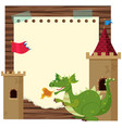 border template with green dragon vector image vector image