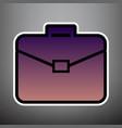 briefcase sign violet vector image vector image