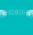 christmas border made fir branches vector image