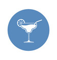 cocktail wineglass icon placed in blue circle vector image vector image