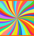 colorful rays kaleidoscope vector image vector image