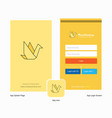 company bird splash screen and login page design vector image vector image