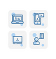 creative blue e learning icons design isolated vector image vector image