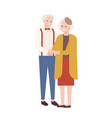cute elderly couple in love old man and woman vector image vector image