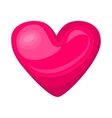 Cute shiny pink heart icon isolated on white vector image vector image