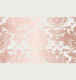 damask pink gold ornament pattern baroque luxury vector image vector image