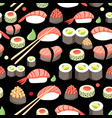 delicious japanese sushi vector image vector image