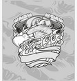 eagle with machinehand drawingshirt designs biker vector image vector image