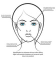 female face information poster design vector image vector image