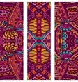 Festive Tribal colorful ornamental banner vector image vector image