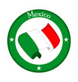 flag of mexico on a label vector image