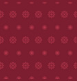 folk daisies in deep red seamless pattern vector image
