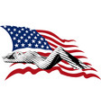 girl and us flag vector image vector image